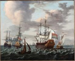 Uniek scheepsportret van het oorlogsschip van Tjerk Hiddes de Vries