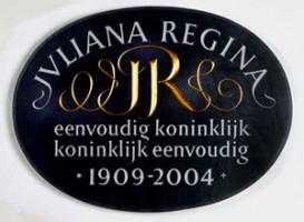 Onthulling eerste gedenkteken Koningin Juliana